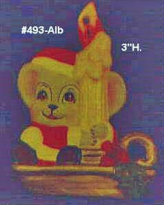 Ceramic Painters Bisque Alberta Mice Christmas Ornaments